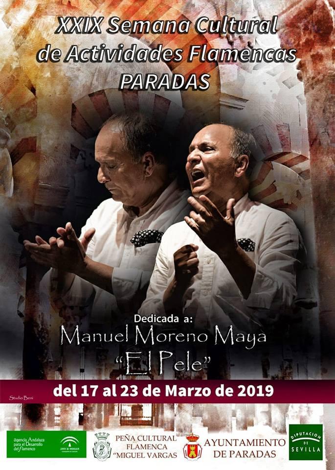 AionSur cartel-Paradas-flamenco La XXIV Semana Cultural Actividades Flamencas de Paradas homenajea a 'El Pele' Agenda Paradas