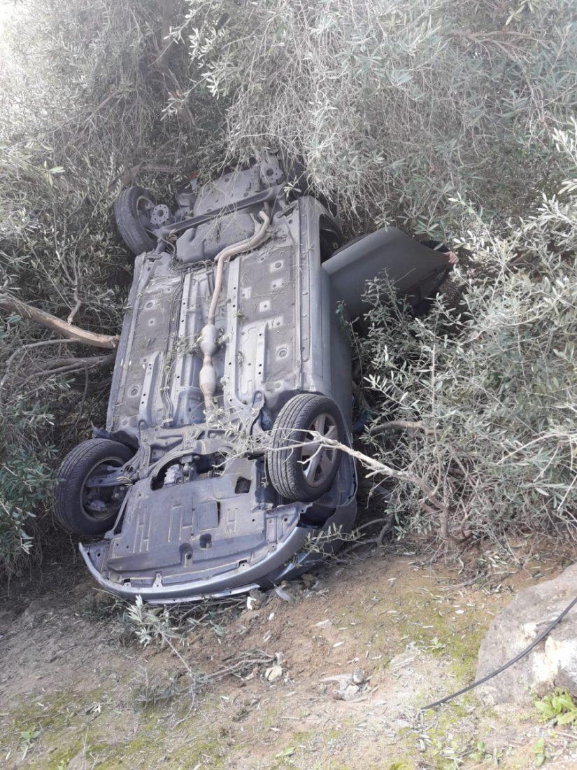 AionSur coche-accidente-A92-Arahal Una salida de vía de un vehículo en la A92 obliga a intervenir a los bomberos Sucesos  destacado