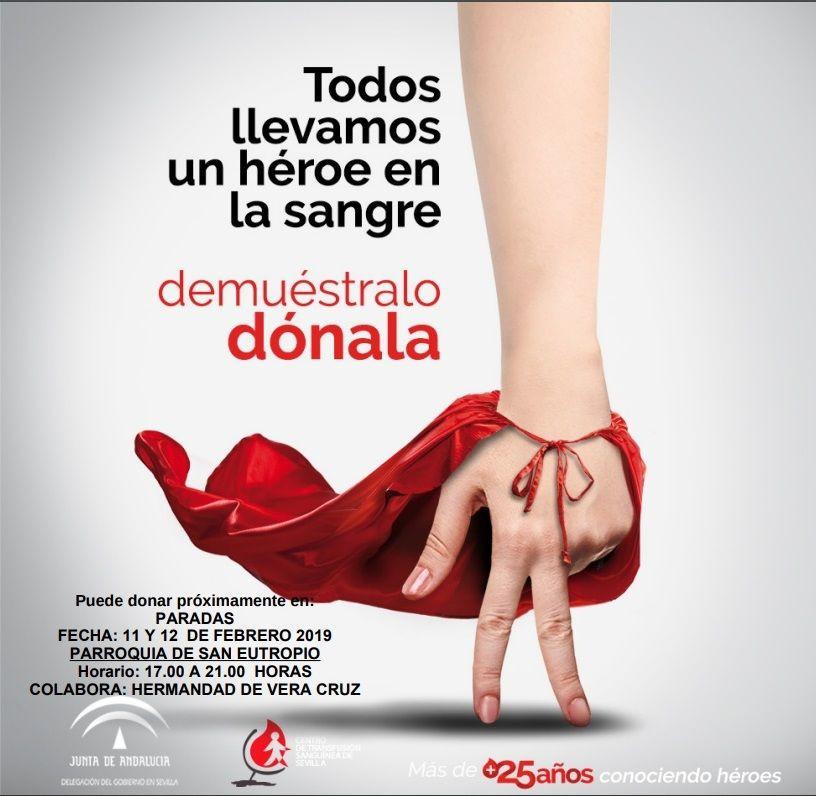 AionSur donanción-sangre-paradas Campaña de donación de sangre en Paradas el 11 y 12 de febrero Paradas Salud