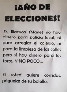 AionSur illcuci-folleto-219x300 Atentan contra el coche de un concejal de Gerena por organizar una corrida de toros Sucesos
