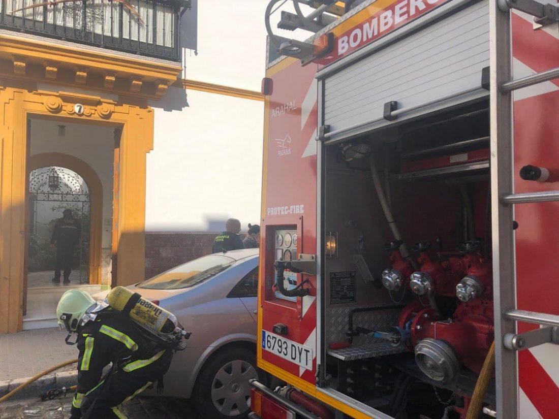 AionSur incendio-Corredera Incendio sin heridos en una vivienda de Arahal a causa de un brasero Arahal Campiña Morón y Marchena Sucesos