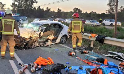 AionSur Accidente-Puebla-400x240 Nueve heridos en un choque frontal en La Puebla del Río Provincia Sucesos  destacado