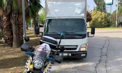 AionSur Camion-policia-400x240 Interceptado un camión que llevaba un 230 % más de peso permitido Sevilla Sucesos