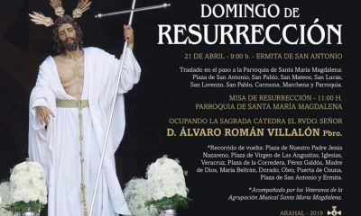 AionSur Cristo-Resucitado-Arahal-400x240 Recorrido del Cristo Resucitado el 21 de abril en Arahal Semana Santa