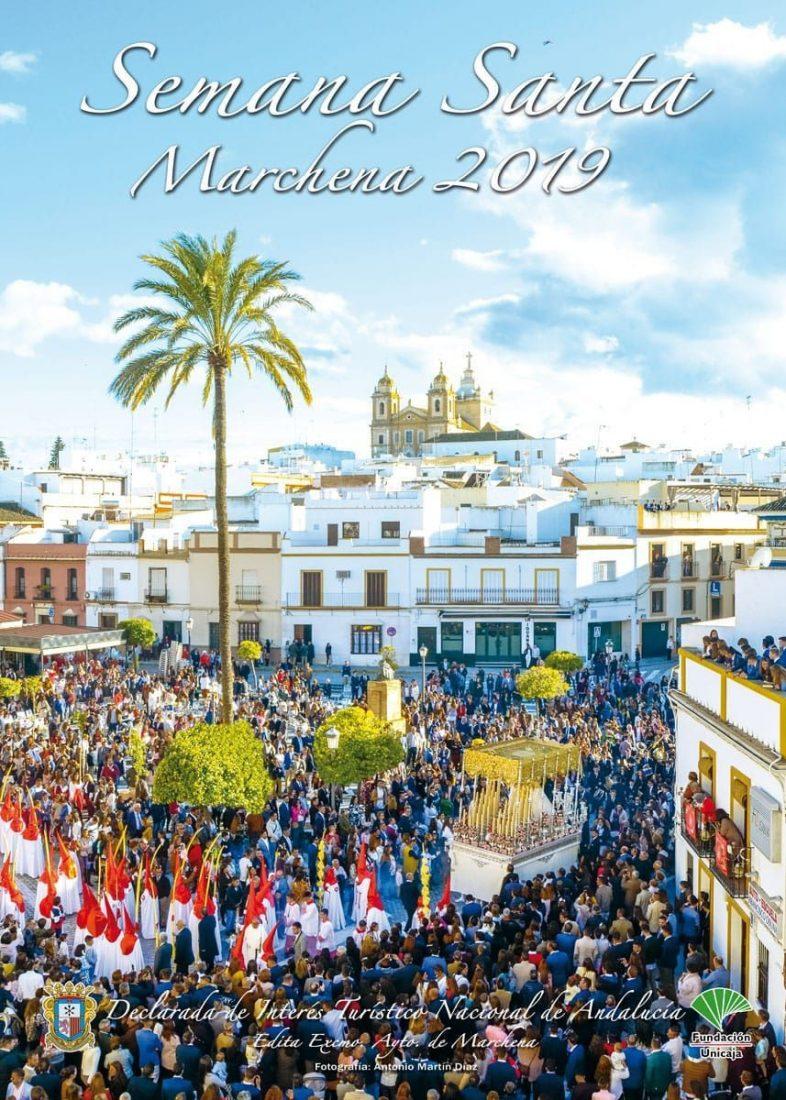AionSur cartel-SemanaSanta-Marchena-1 La Borriquita, protagonista del cartel de Semana Santa de Marchena. Cultura Marchena Semana Santa