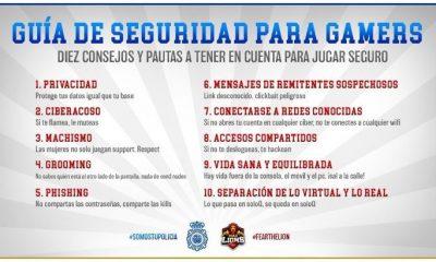 AionSur guía-seguridad-gamers-policía-400x240 La Policía Nacional presentan una guía de seguridad para gamers junto a un relevante club sport Sociedad