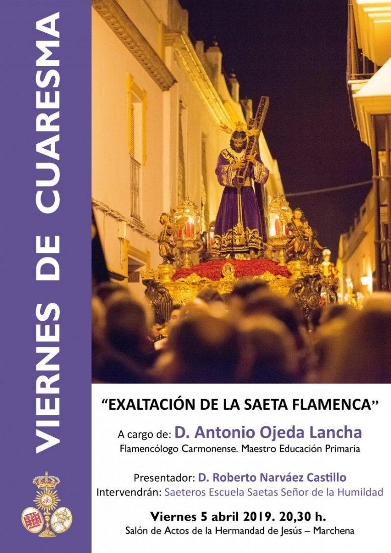 AionSur Jesús-Nazareno-2019-Viernes-Cuaresma Una conferencia sobre la saeta flamenca para otro Viernes de Cuaresma en Marchena Marchena Semana Santa