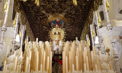 AionSur Virgen-Baratilo-400x240 La Hermandad del Baratillo coloca a la virgen el fajín de Franco a pesar de la investigación de un juez Semana Santa Sevilla  destacado