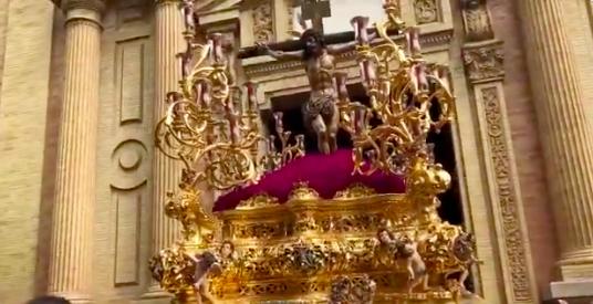 AionSur cristo-Sed La Sed abre un Miércoles Santo sevillano que mira al cielo con preocupación Semana Santa Sevilla