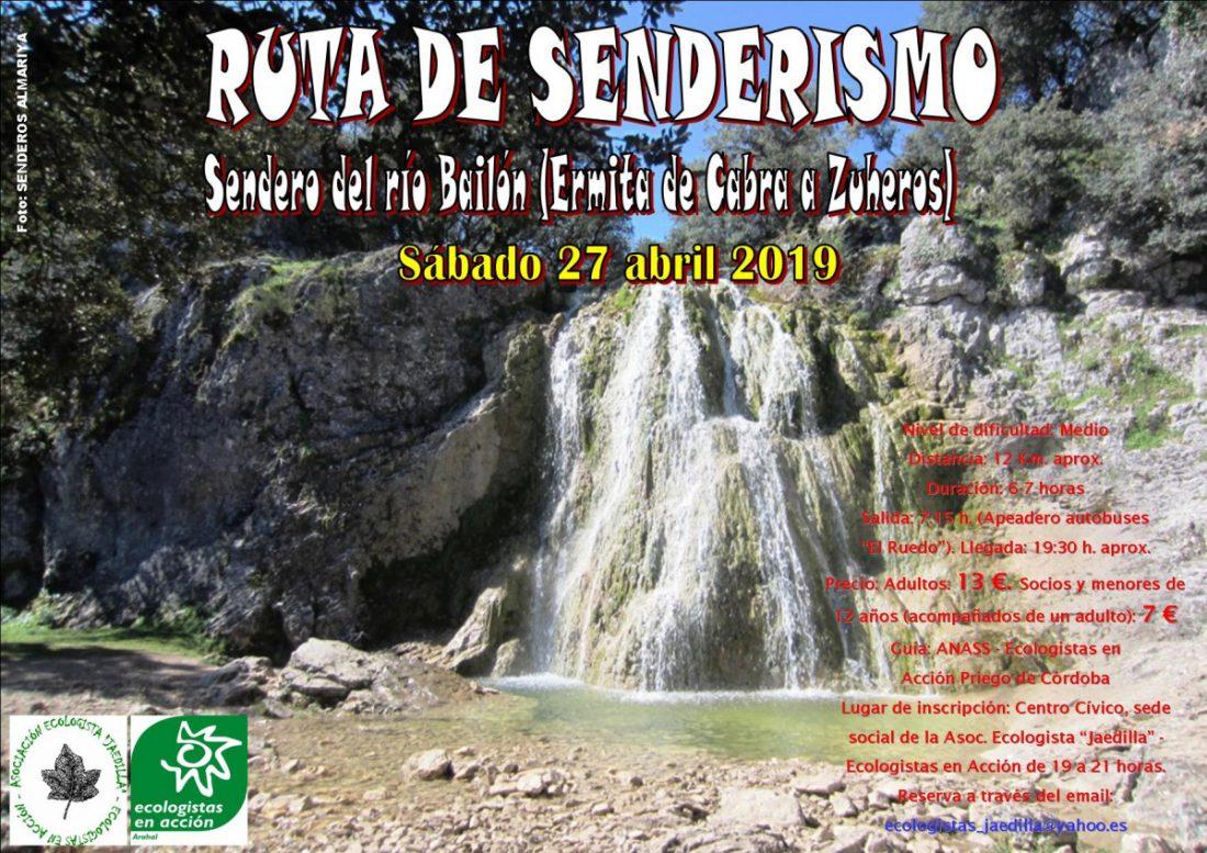 AionSur senderismo-por-el-río-Bailón2 Ruta de senderismo por el río Bailón para el 27 de abril Córdoba