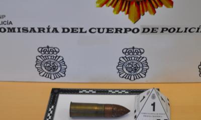AionSur Proyectil--400x240 Desactivan un proyectil de guerra encontrado en una casa de Dos Hermanas Dos Hermanas Sucesos