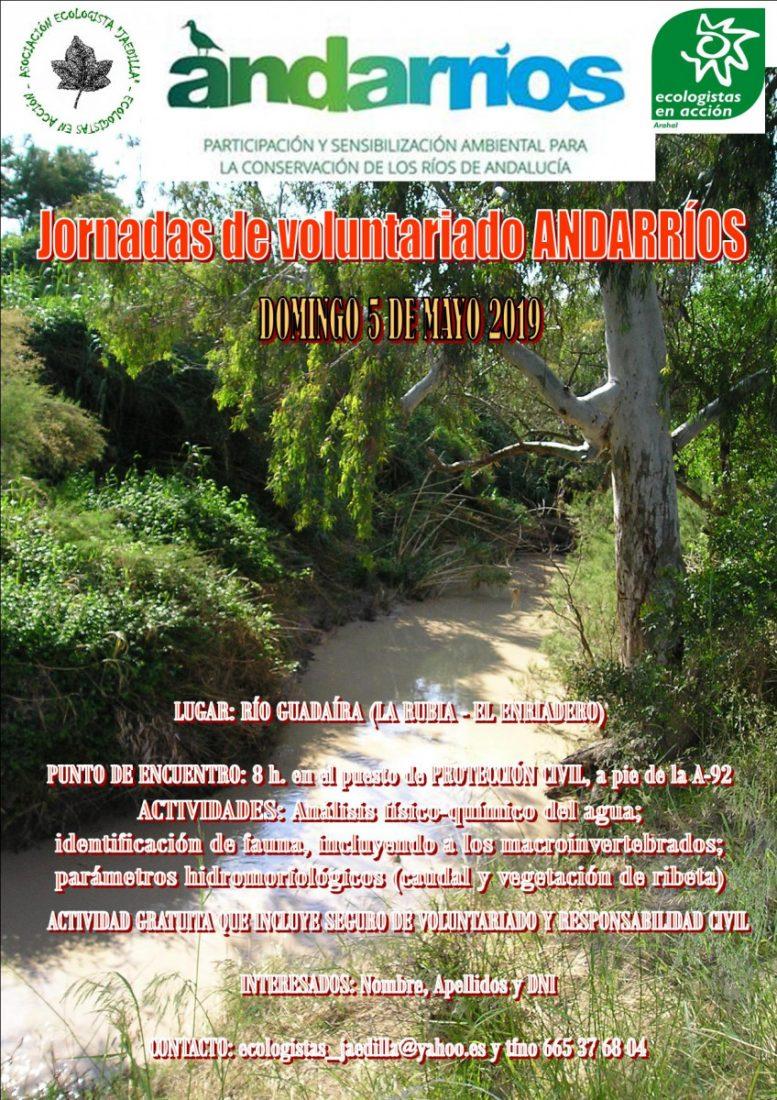 AionSur cartel-andarríos Jaedilla Ecologistas en Acción busca voluntarios para el programa Andarríos Medio Ambiente Naturaleza