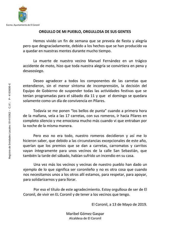 AionSur coronil Los premios de la romería de El Coronil van a una familia afectada por un incendio El Coronil Sociedad  destacado