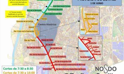 AionSur cortes-400x240 Fuerzas Armadas, Alejandro Sanz y 35 procesiones colapsarán Sevilla el fin de semana Sevilla Sociedad