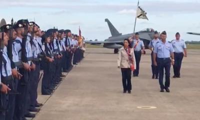 AionSur ministra-400x240 La ministra de Defensa llega a la Base de Morón Arahal Morón de la Frontera Sociedad  destacado