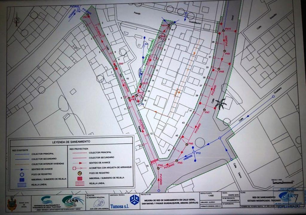 AionSur reb-de-saneamiento-calle-genil-1024x720 Las obras de las calles Genil y San Rafael durarán 80 días y costarán 219.000 euros Arahal  destacado