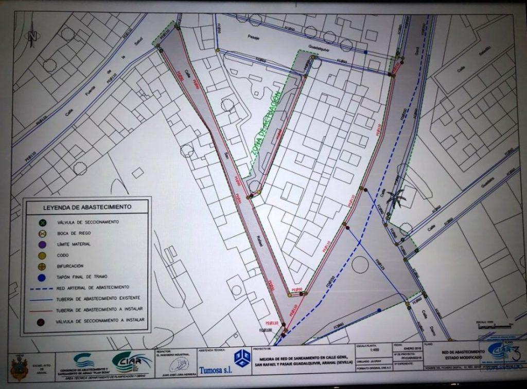 AionSur red-abastecimiento-Genil-SanRafael-1024x757 Las obras de las calles Genil y San Rafael durarán 80 días y costarán 219.000 euros Arahal  destacado