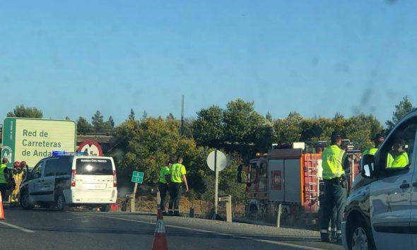 AionSur Accidente-590x354 Muere un joven de 20 años en un accidente en la A-92 a la altura de Alcalá de Guadaíra Alcalá de Guadaíra Sucesos  destacado