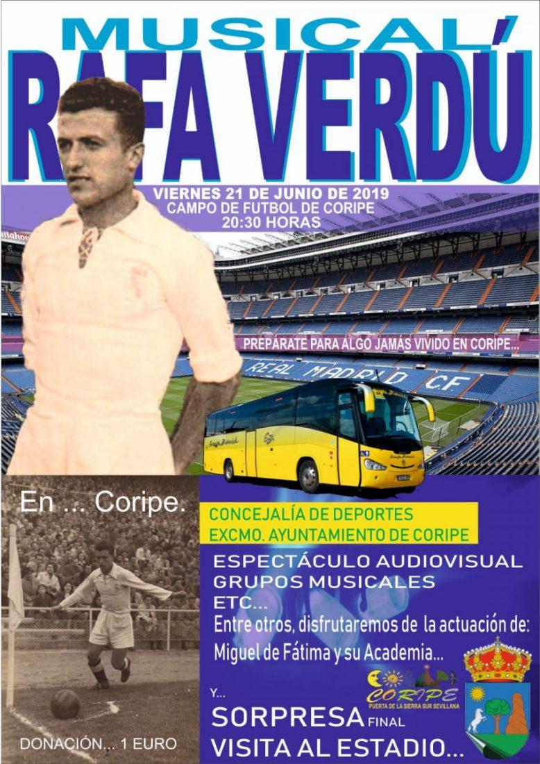 AionSur Cartel-Musical-a-Rafa-Verdú Coripe homenajea al exfutbolista del Real Madrid Rafa Verdú Coripe Deportes Fútbol