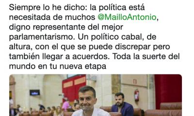 AionSur Juanma-Maillo-400x240 Los líderes políticos andaluces despiden a Maíllo y le desean suerte en su nueva etapa Andalucía Política