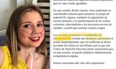 """AionSur RENFE-DENUNCIA-400x240 Pide un enchufe para un respirador en el AVE y le contestan que es """"entretenimiento"""" Huelva Salud Sociedad  destacado"""