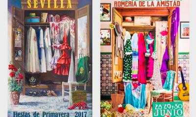 """AionSur cartel-plagio-400x240 Asombroso """"parecido"""" entre el cartel de las fiestas de un pueblo de Huelva y uno de Sevilla Huelva Sevilla Sociedad"""