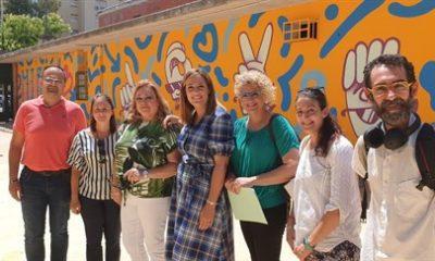 AionSur colegio-Sevilla-mural-400x240 Más de 400 metros cuadrados de murales y grafitis decorarán seis colegios con mensajes de tolerancia y respeto Cultura Sevilla