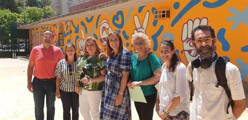 AionSur colegio-Sevilla-mural Más de 400 metros cuadrados de murales y grafitis decorarán seis colegios con mensajes de tolerancia y respeto Cultura Sevilla
