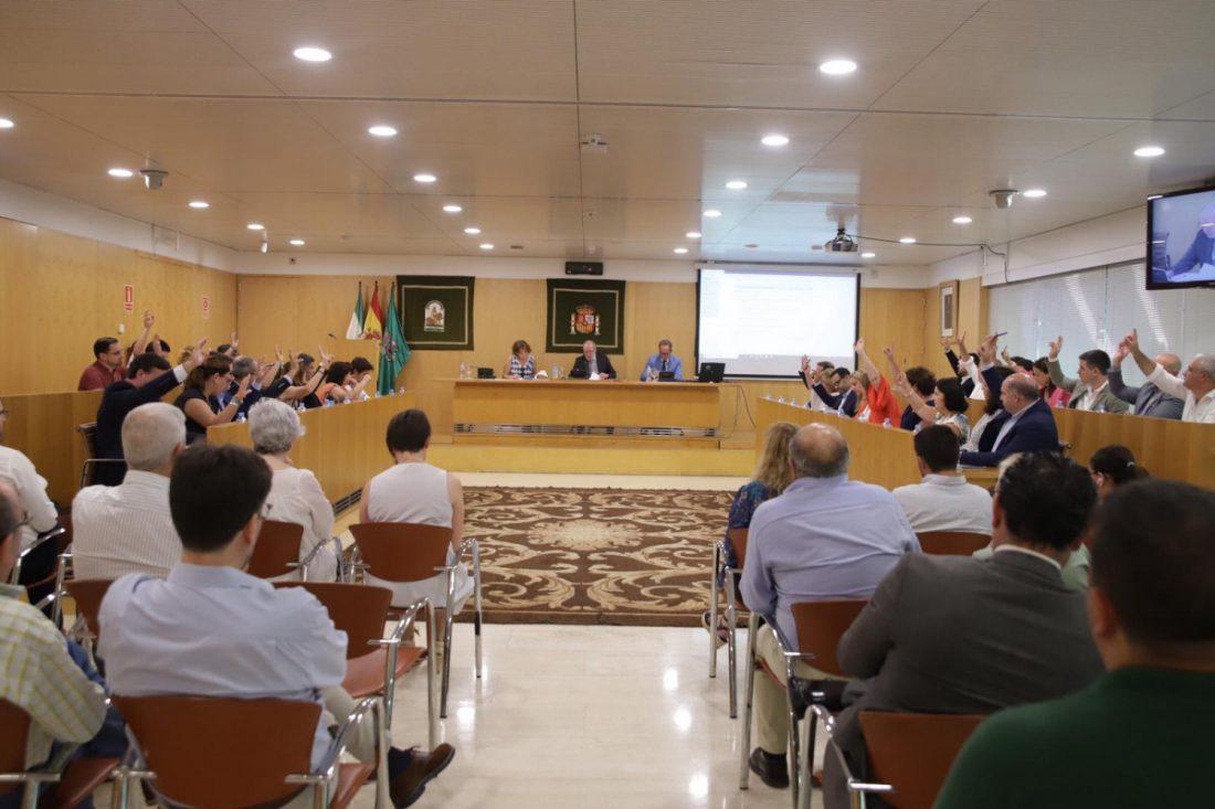 AionSur Diputacion-Sevilla-Pleno La Diputación congela los sueldos de cargos y personal eventual y aprueba tener cinco grupos políticos Diputación Política