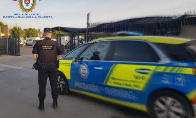 AionSur Poli-Castilleja-400x240 Tres detenidos por una pelea en plena calle con un herido en Castilleja de la Cuesta Castilleja de la Cuesta Sucesos