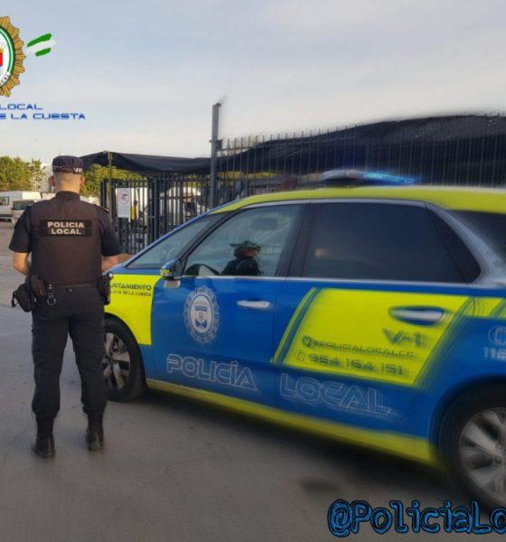 AionSur Poli-Castilleja-560x600 Detenido tras intentar ocupar dos veces la misma casa en Castilleja de la Cuesta Castilleja de la Cuesta Sucesos