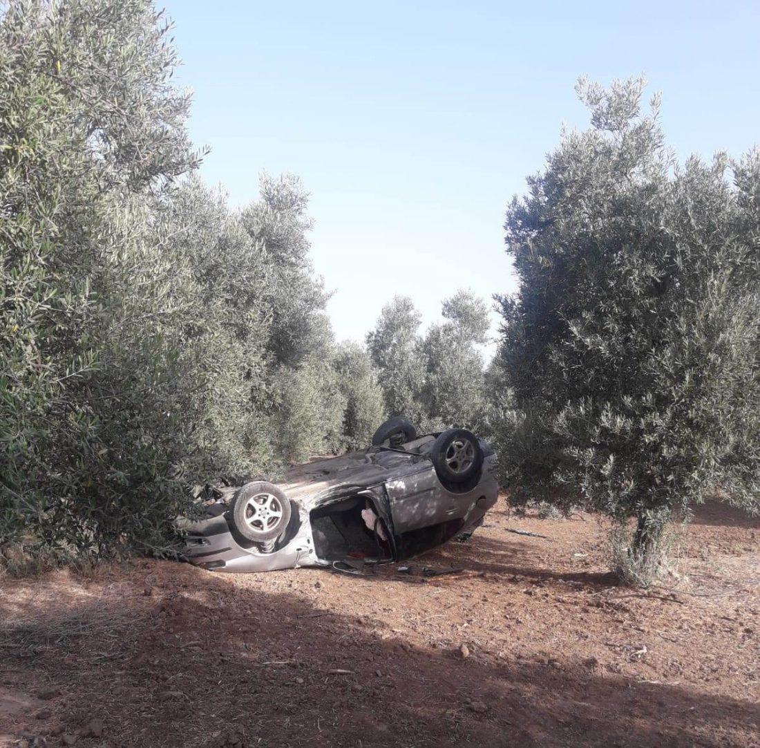 AionSur accidente-camino-Barrios Dos heridos, uno de ellos grave, en un accidente ocurrido en un camino rural de Arahal Arahal Sucesos