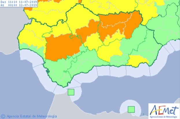 AionSur calor Ampliado a la Campiña sevillana el aviso naranja por altas temperaturas Campiña Morón y Marchena Sociedad