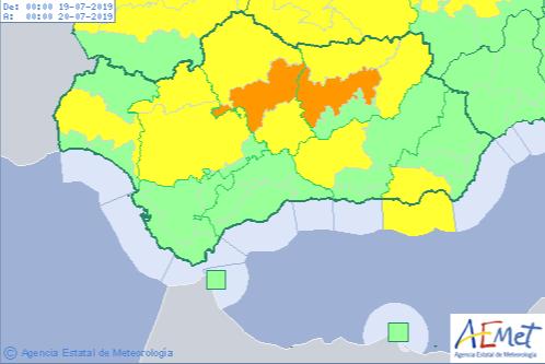 AionSur calor Activados avisos naranja y amarillo en varias zonas de Andalucía Andalucía Sociedad