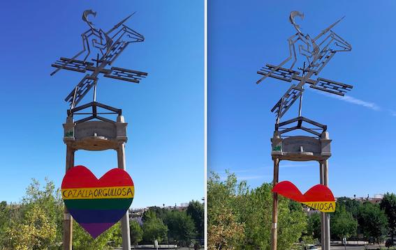 AionSur cazalla-cartel Atentan contra el cartel del Orgullo en Cazalla de la Sierra Provincia Sucesos
