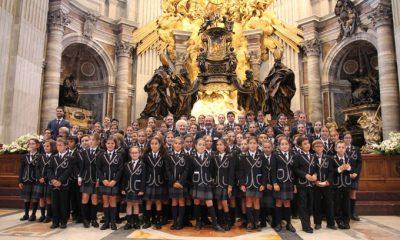 AionSur coro-400x240 Los niños de un colegio sevillano cantan ante el Papa en el Vaticano Cultura Sociedad  destacado