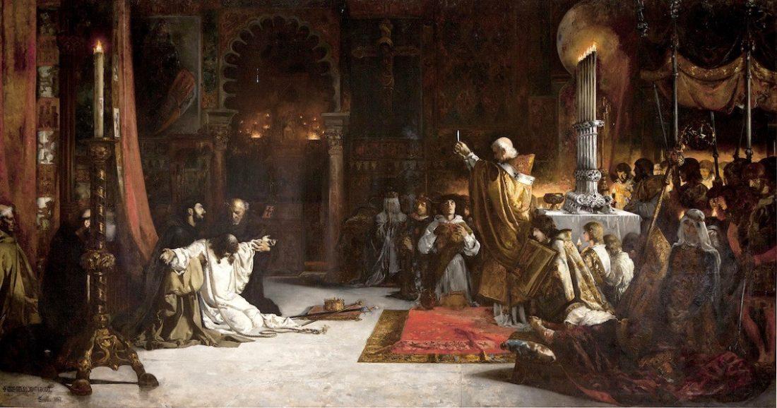 AionSur cuadro-alcazar Una avería del aire hace que caigan gotas de agua sobre un cuadro expuesto en El Alcázar Cultura Sucesos