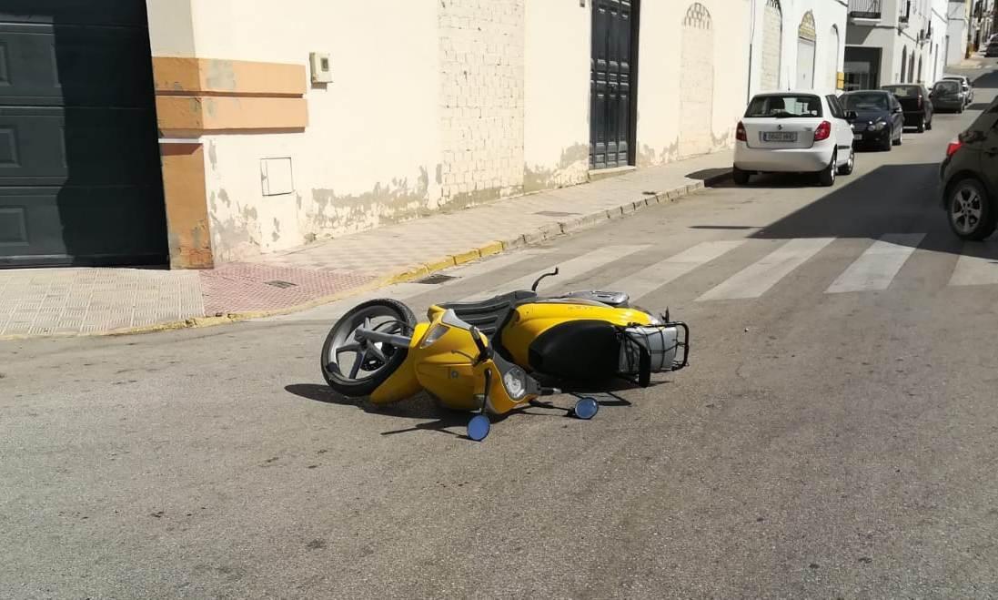 AionSur accidente-moto-Arahal Herido un motorista en un accidente en Arahal Arahal Sucesos