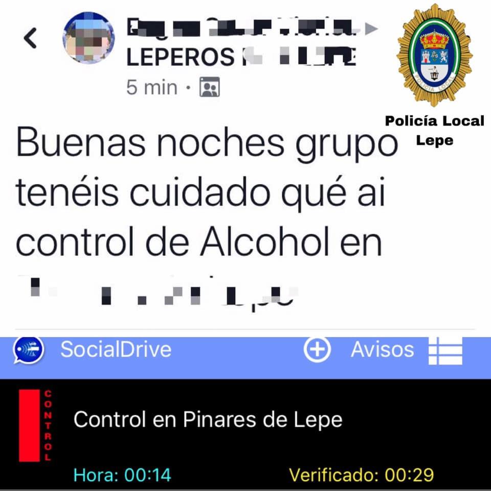 AionSur aviso-control Denunciado por avisar en un grupo de Facebook de la ubicación de un control policial Huelva Sucesos