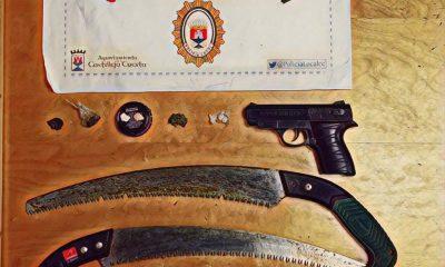 AionSur castilleja-poli-400x240 Denunciado al ser captado en Castilleja con una pistola, dos sierras y cuatro drogas distintas en el coche Castilleja de la Cuesta Sucesos