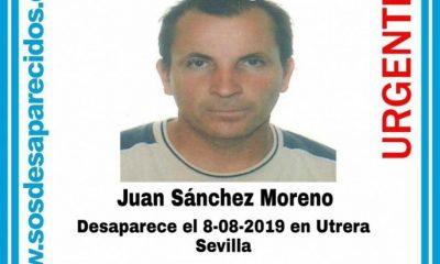 AionSur desaparecido-Utrera-400x240 Buscan a un vecino de Utrera desaparecido desde el pasado 8 de agosto Sucesos Utrera