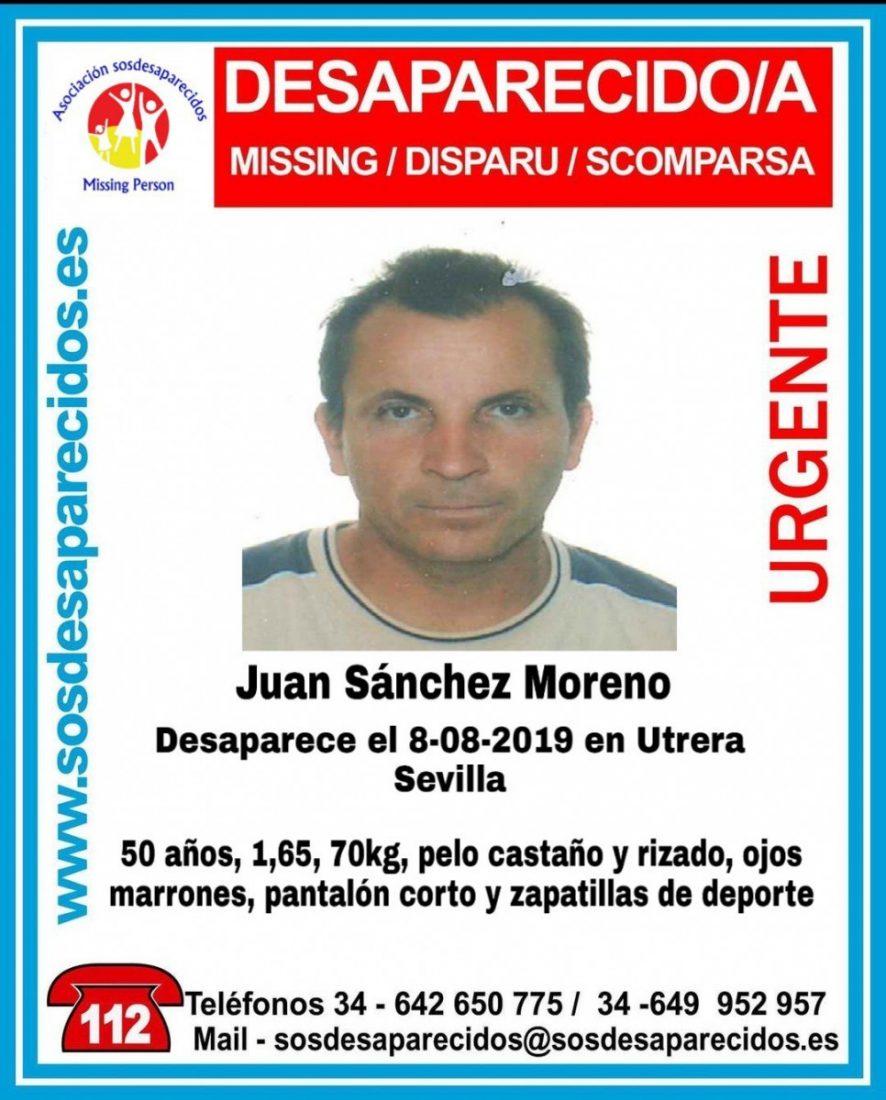 AionSur desaparecido-Utrera Buscan a un vecino de Utrera desaparecido desde el pasado 8 de agosto Sucesos Utrera