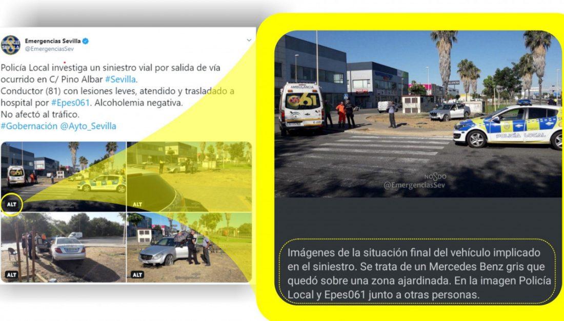 AionSur emergencias El perfil de Twitter de Emergencias Sevilla se abre a personas con discapacidad visual Sevilla Sociedad