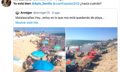 AionSur matalascanas-twitter-400x240 Un tuitero culpa -con humor- al alcalde de Sevilla de la falta de arena en Matalascañas Huelva Sevilla Sociedad  destacado