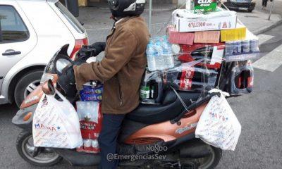 AionSur moto-sobrecarga-400x240 Denunciado por llevar toda la compra acumulada en un ciclomotor Sevilla Sucesos  destacado