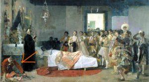 AionSur muerte-maestro-300x166 La curiosa referencia a la superstición en el cuadro 'La muerte del maestro' Cultura Sociedad