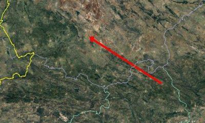 AionSur Bola-recorrido-400x240 La bola de fuego vista en Sevilla entró en la atmósfera a 61.000 kilómetros por hora Sevilla Sucesos  destacado