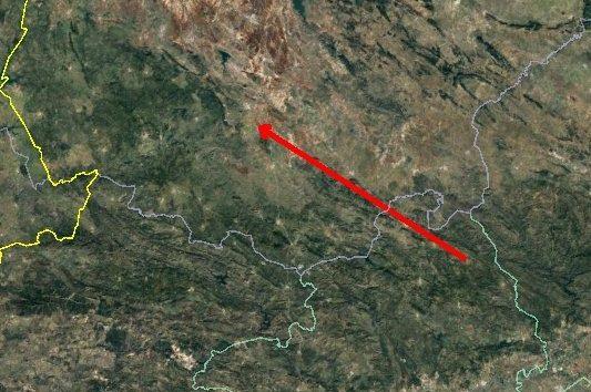 AionSur Bola-recorrido-533x354 La bola de fuego vista en Sevilla entró en la atmósfera a 61.000 kilómetros por hora Sevilla Sucesos  destacado