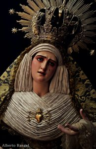 AionSur Osuna-Virgen-2-194x300 Detenido por robar un broche de Nuestra Madre y Señora de los Dolores de Osuna Osuna Sucesos