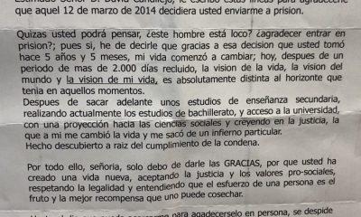 AionSur carta-preso-400x240 Un preso agradece por carta al juez que le condenó que le ayudase a reformar su vida Sevilla Sociedad